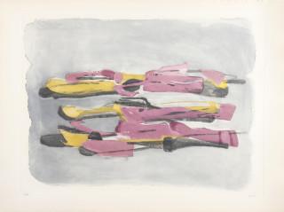 Jean Fautrier, Paysage, gravure