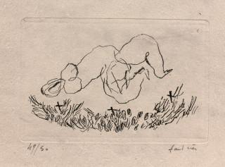 Jean Fautrier, petit nu G, d'après l'Alleluiah