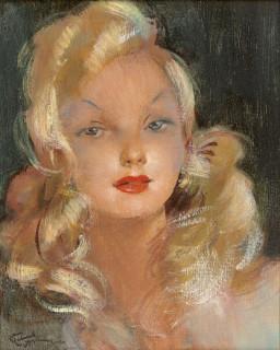 Jean Gabriel Domergue, Hélène la blonde, tableau