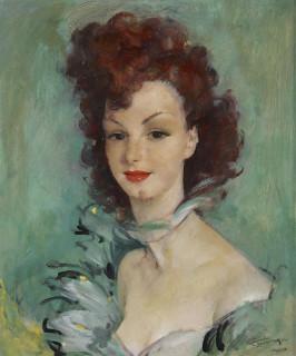 Jean Gabriel Domergue, portrait d'une élégante, tableau