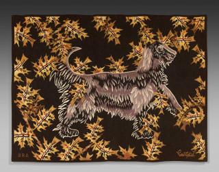 Jean Lurçat, le chien, tapisserie