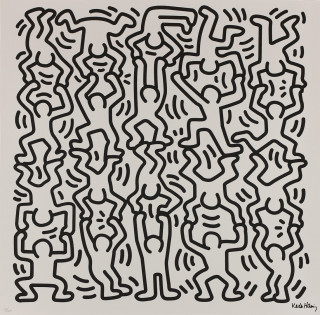 Keith Haring, lithographie, vente aux enchères