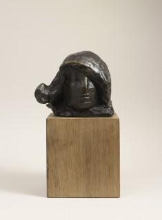 Joseph Czaky, Tête de femme, bronze