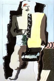 Jean Lurçat, le marchand de tapis, 1926, tableau