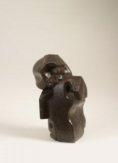 Léon Borgey, femme à la colerette, bronze