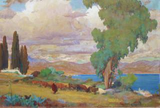 Léon Charles Cannicioni, la baie d'Ajaccio