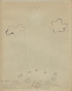 Léopold Survage, ne plaignons pas les nuages, dessin