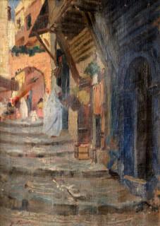 Gustave Lino, la Kasbah, huile