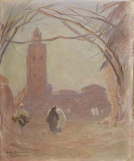Louis Dumoulin, Marrakech, huile sur toile