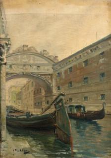 Louis Nattero, canal de Venise, tableau