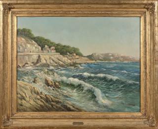 Louis Nattero, la corniche à Marseille, vente aux enchères