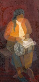 Louis Toffoli, la dentelière portugaise, tableau
