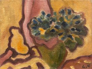 Louis Valtat, Petit bouquet aux tentures, tableau