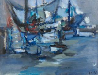 Marcel Mouly, Morgat bleu, tableau