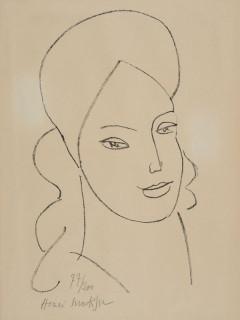 Henri Matisse, portrait Simone Signoret