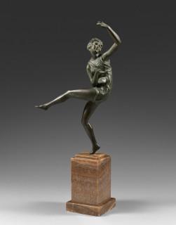 Maurice Guiraud Riviere, femme dansant, bronze