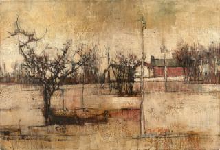 Michel de Gallard, le village, tableau