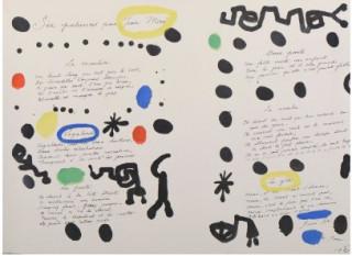 Joan Miro, six patiences, lithographie