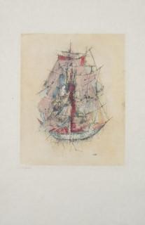 Otto Wols, goëlette de l'espérance, gravure