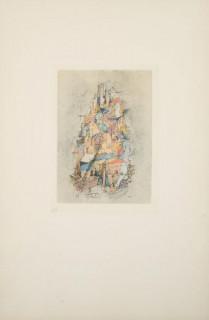 Otto Wols, soleil sur la ville déserte, gravure