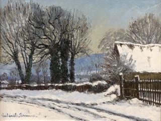 Paul Emile Pissarro, Neige à Clercy, tableau