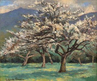 Paul Emile Pissarro, tableau, les pommiers en fleurs
