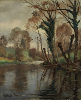 Paul Emile Pissarro, Rivière près de Clécy, tableau