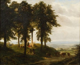 Robert Leopold Leprince, Angelus autour du calvaire, tableau
