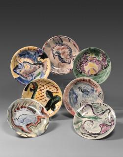 Pascal Ambrogiani, assiettes peintes à la main