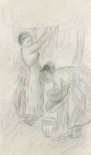 Pierre Auguste Renoir, les blanchisseuses