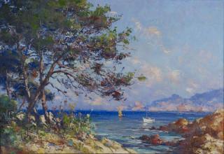 Pierre Paul Emiot, paysage méditerranéen
