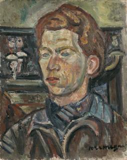 Pinchus Kremegne, portrait, tableau
