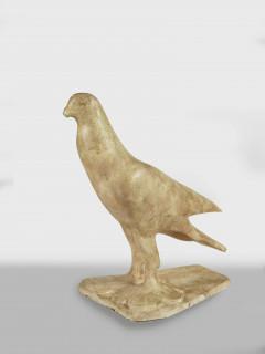 Pompon, le pigeon voyageur, plâtre
