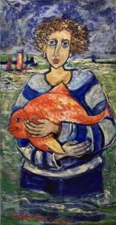 Raya Sorkine, le pêcheur, tableau