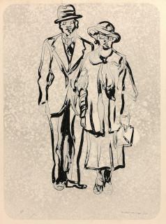 Antonio Recalcati, couple, dessin
