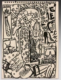 Robert Combas, composition, dessin