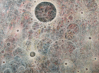 Robert Tatin, composition, tableau