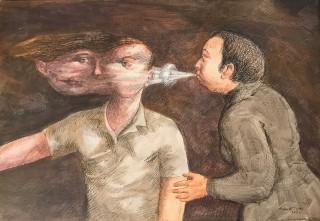 Roland Topor, le souffle, tableau