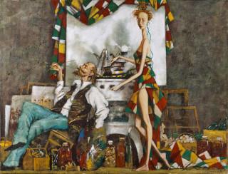 Roman Zaslonov, l'atelier du peintre, tableau