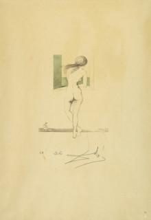 Salvador Dali, nu à la fenêtre