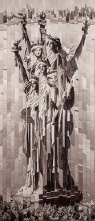 Serge Mendjisky, statue de la liberté, vente aux enchères
