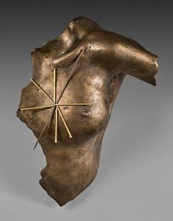 Takis, Magnetic Evidence, sculpture bronze doré