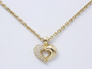 Van Cleef & Arpels, collier coeur or et diamants