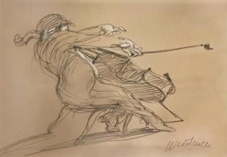 Claude Weisbuch, le violoncelliste, dessin