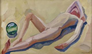 William Scharff, reclining boy, tableau