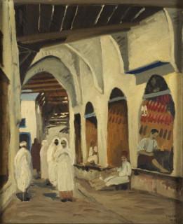 Yahia Turki, scène populaire, tableau