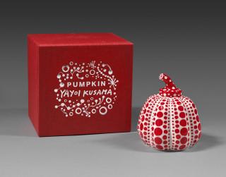 Yayoi Kusama, Pumpkin red & white, vente aux enchères