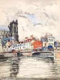 Frank Will, Amiens, aquarelle