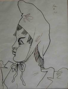 Jean Cocteau, Marianne, encre
