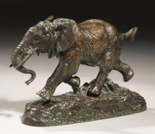 Antoine Louis Barye, éléphant du Sénégal, bronze